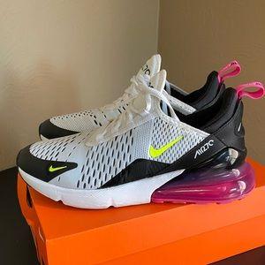 Nike Air Max 270 black white hot pink 7.5